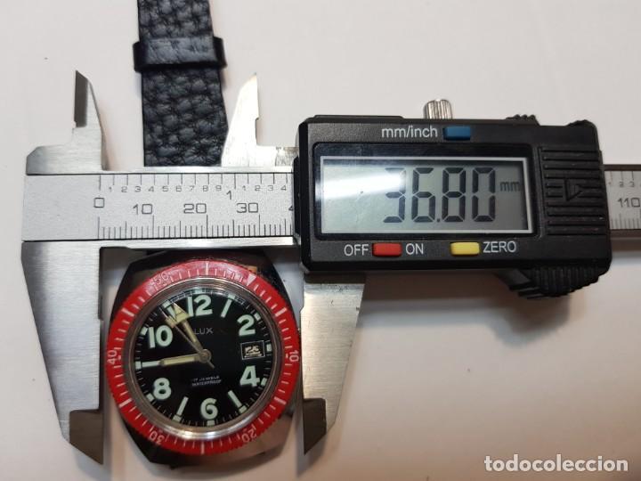 Relojes de pulsera: Reloj Lux caballero Submarinista Cuerda 17 jewels funcionando - Foto 4 - 210970105