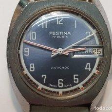 Relojes de pulsera: RELOJ FESTINA CUERDA 17 RUBIS FUNCIONANDO. Lote 210970484