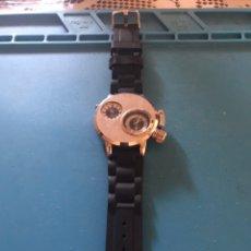 Relojes de pulsera: RELOJ DOBLE ESFERA PLATEADO QUARTZ SÚPER SPEED V6.. Lote 211483784