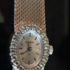Relojes de pulsera: RELOJ SANDOZ DE MUJER CON ESTUCHE ORIGINAL. Lote 211634149