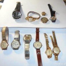 Relojes de pulsera: MAGNIFICOS 11 RELOJES DE MUJER ANTIGUOS PARA REPARAR O PIEZAS. Lote 211785750