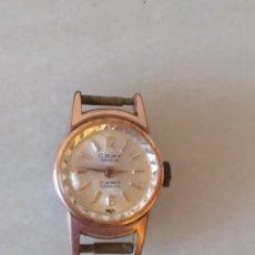 Relojes de pulsera: ANTIGUO RELOJ PULSERA DE SEÑORA CARGA MANUAL MARCA CAMY GENEVE 17 JEWELS INCABLOC. Lote 211907105