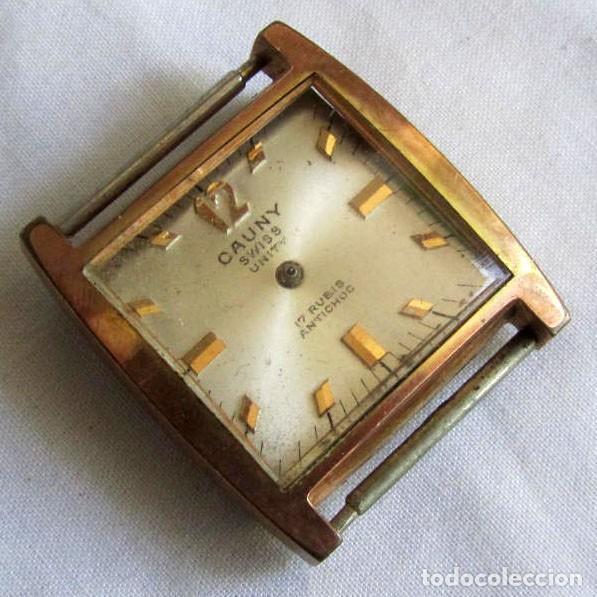 RELOJ CAUNY UNITY A CUERDA, PARA REPARAR O PIEZAS (Relojes - Pulsera Carga Manual)