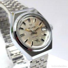 Relojes de pulsera: RELOJ VINTAGE DE SEÑORA MARCA DELKAR DE CARGA MANUAL CALIBRE FHF 36-2 Y NUEVO. Lote 211910366