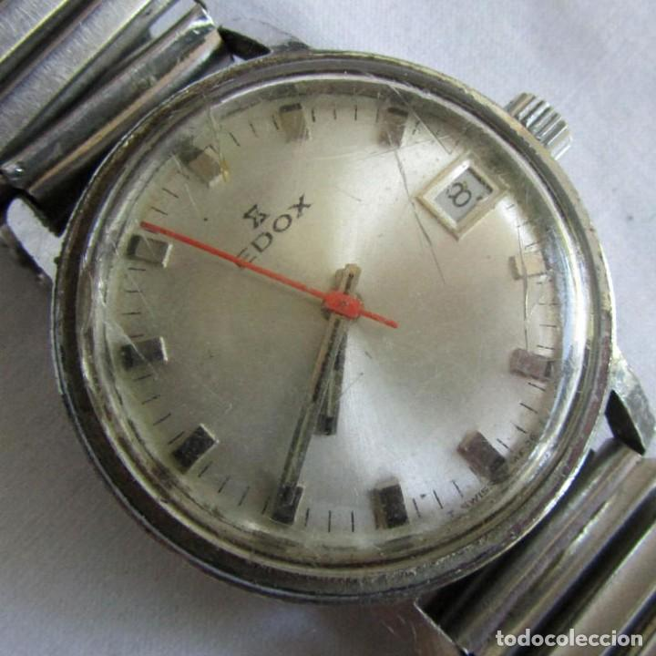RELOJ DE CUERDA EDOX, FUNCIONANDO (Relojes - Pulsera Carga Manual)