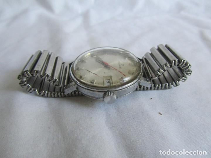 Relojes de pulsera: Reloj de cuerda Edox, funcionando - Foto 4 - 211911681