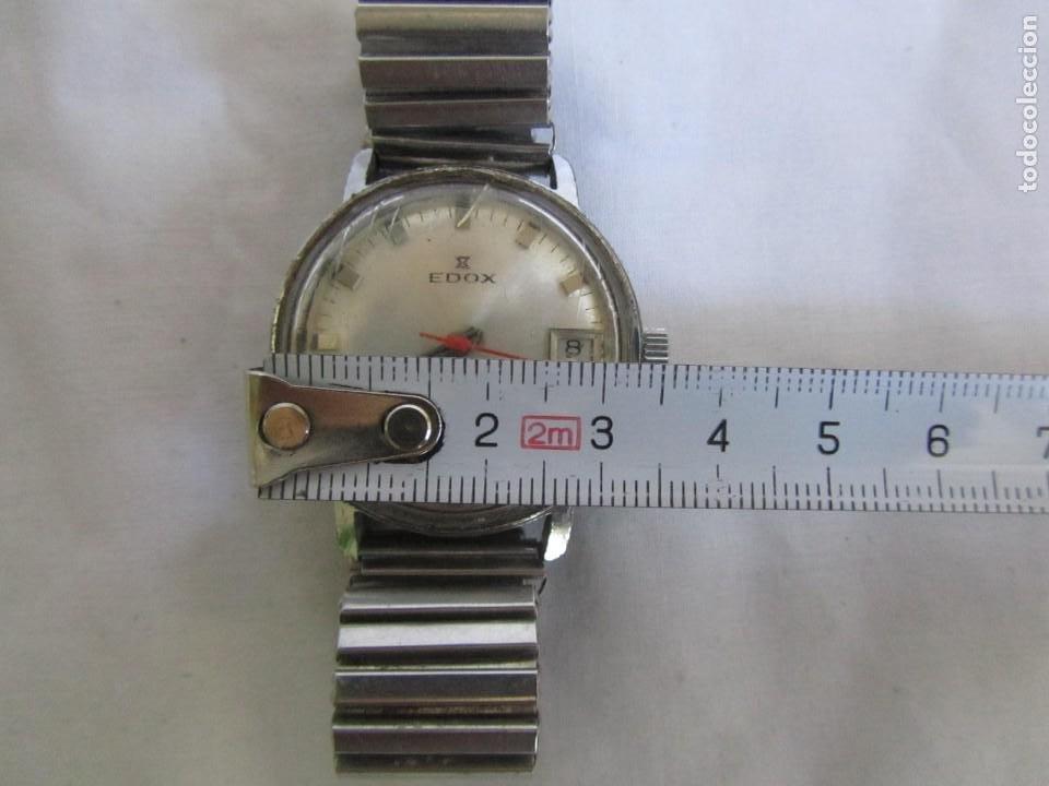 Relojes de pulsera: Reloj de cuerda Edox, funcionando - Foto 5 - 211911681