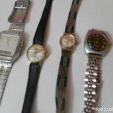 Relojes de pulsera: 4 RELOGES ANTIGUOS DE PULSERA CASIO-BRINA-VANROY-DOGMA. Lote 211955861