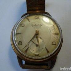 Relojes de pulsera: MAGNIFICO ANTIGUO RELOJ DE CABALLERO CARGA MANUAL CRISTAL WATCH STANDARD 15 RUBIS. Lote 211987483