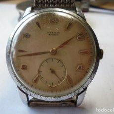 Relojes de pulsera: MAGNIFICO ANTIGUO RELOJ DE CABALLERO CARGA MANUAL,TITAN 15 RUBIS. Lote 211989413