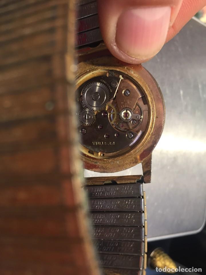 Relojes de pulsera: reloj pulsera swiss suizo festina 17 jewels calendario a las 3 incabloc corona años 40 50 35mm - Foto 2 - 212271856