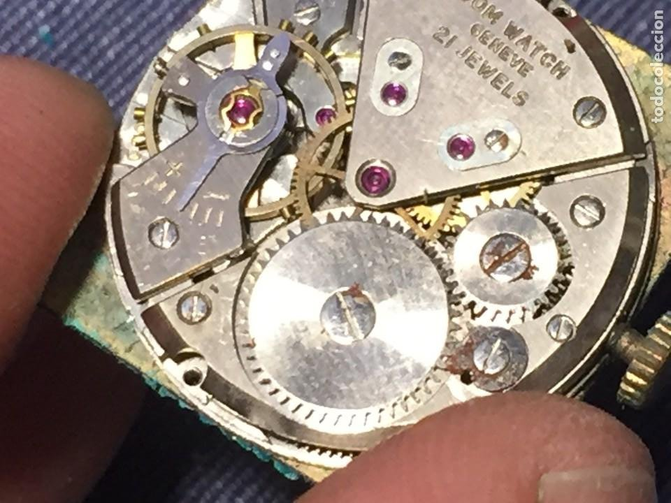 Relojes de pulsera: reloj pulsera dom watch geneve swiss suiza 21jewels num 1080 26x28mm corona - Foto 3 - 212272518