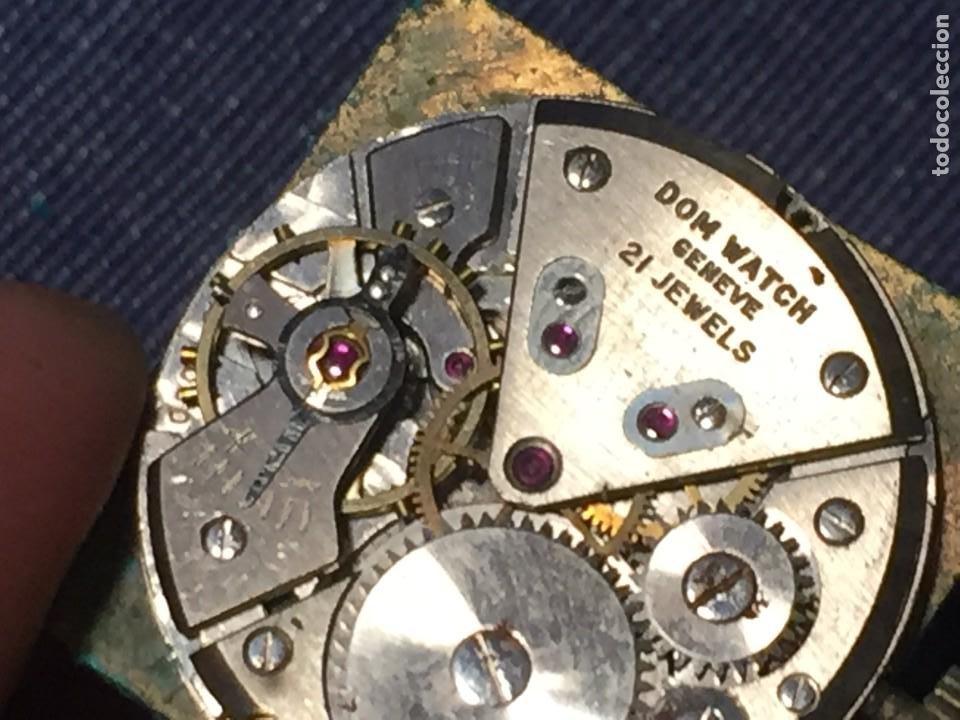 Relojes de pulsera: reloj pulsera dom watch geneve swiss suiza 21jewels num 1080 26x28mm corona - Foto 4 - 212272518