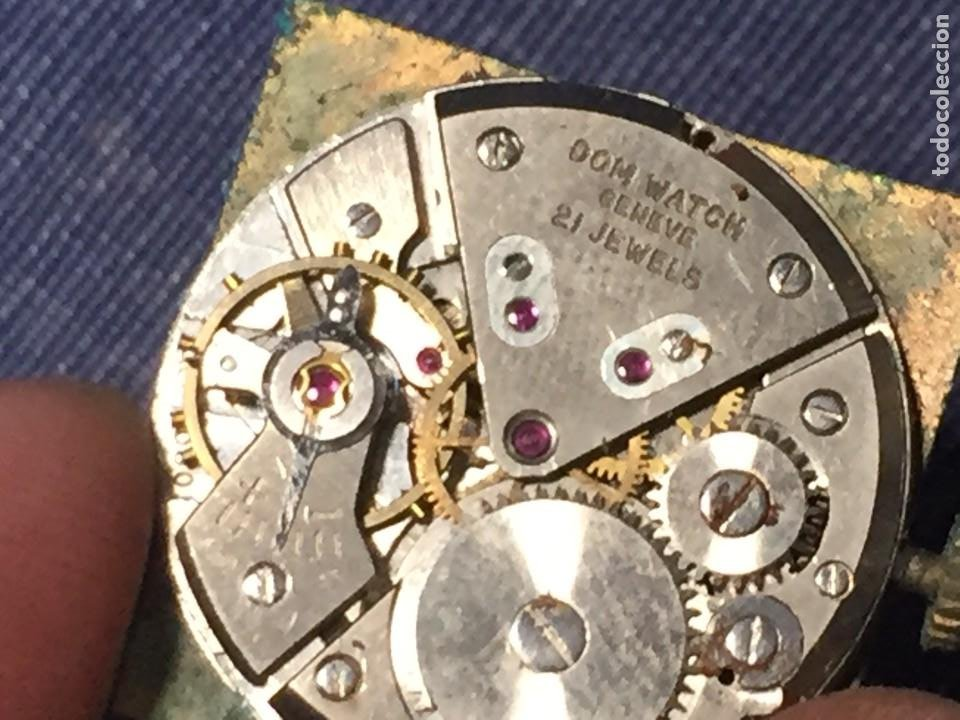 Relojes de pulsera: reloj pulsera dom watch geneve swiss suiza 21jewels num 1080 26x28mm corona - Foto 5 - 212272518
