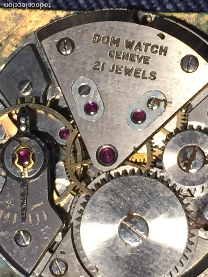 Relojes de pulsera: reloj pulsera dom watch geneve swiss suiza 21jewels num 1080 26x28mm corona - Foto 6 - 212272518