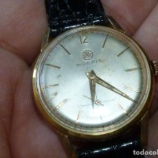 Relojes de pulsera: BELLO RELOJ MOERIS CUERDA MANUAL 17 RUBIS CALIBRE 13''' SWISS MADE 1950 CALIDAD. Lote 213009683