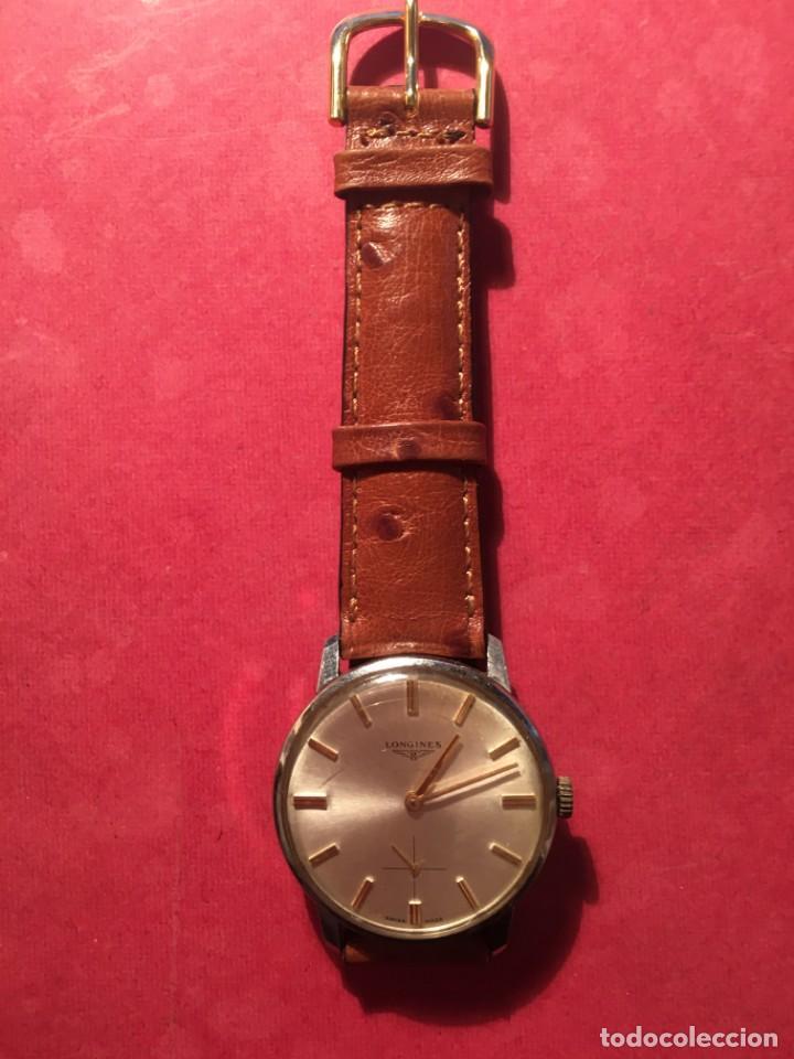 Relojes de pulsera: ANTIGUO RELOJ DE PULSERA LONGINES CAJA DE ACERO RELOJ DE CUERDA , FUNCIONANDO PERFECTAMENTE - Foto 2 - 213066040