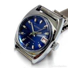 Relojes de pulsera: RELOJ VINTAGE DE SEÑORA MARCA HOMEX AÑOS 60 ESFERA AZUL CARGA MANUAL Y NUEVO A ESTRENAR. Lote 213178740