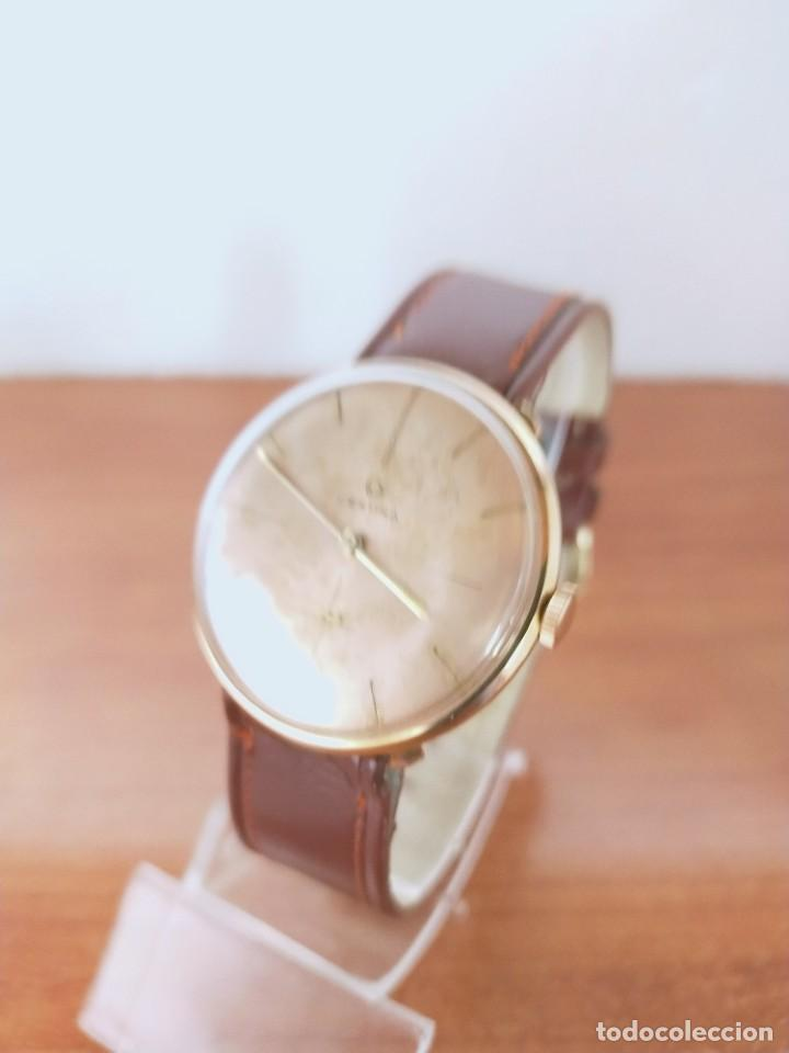 Relojes de pulsera: Reloj caballero (Vintage) CERTINA chapado oro 10 micras de cuerda, 15 rubís, correa cuero marrón. - Foto 2 - 213426661