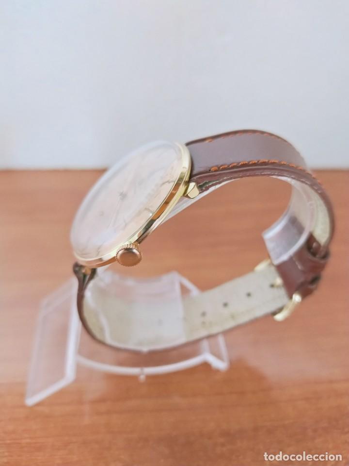 Relojes de pulsera: Reloj caballero (Vintage) CERTINA chapado oro 10 micras de cuerda, 15 rubís, correa cuero marrón. - Foto 7 - 213426661
