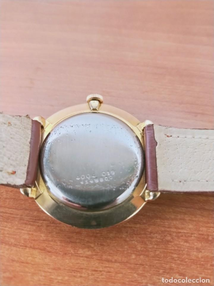 Relojes de pulsera: Reloj caballero (Vintage) CERTINA chapado oro 10 micras de cuerda, 15 rubís, correa cuero marrón. - Foto 11 - 213426661