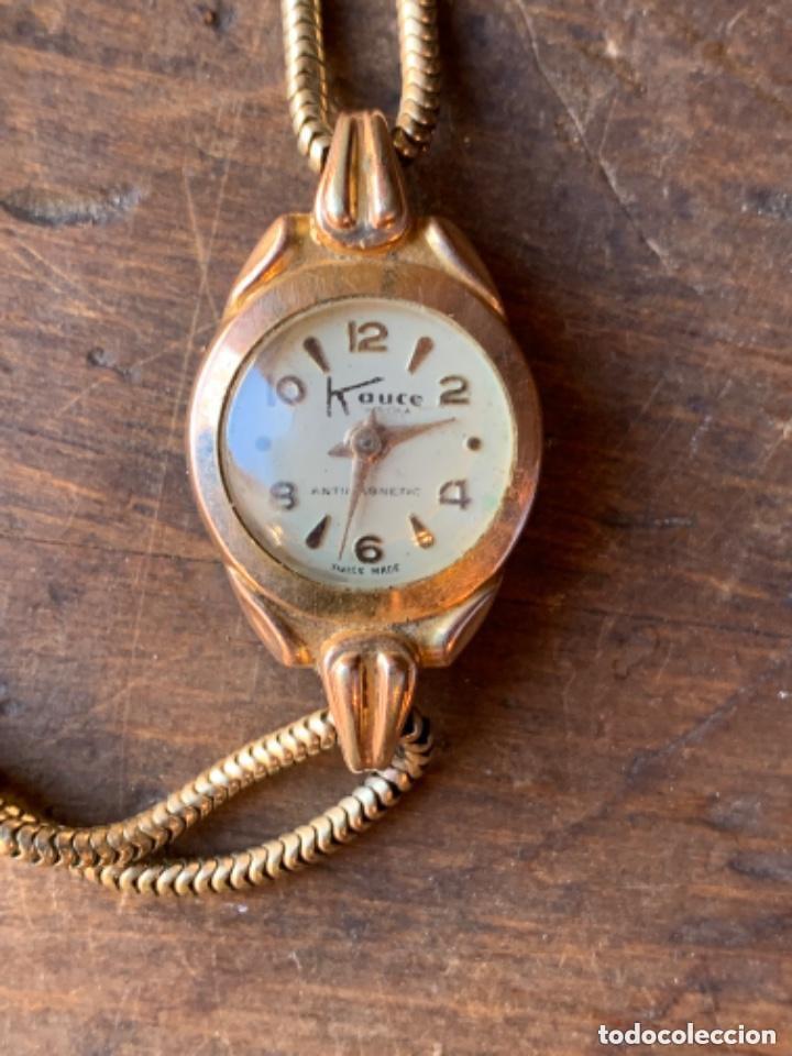 Relojes de pulsera: RELOJ DE PULSERA DE SEÑORA CON BAÑO DE ORO Y CAJA DE ACERO - MARCA KOUCE - SUIZO - Foto 9 - 38404853