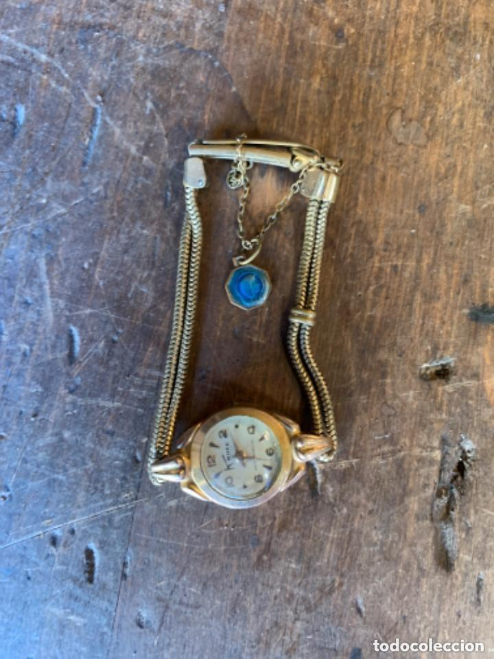 Relojes de pulsera: RELOJ DE PULSERA DE SEÑORA CON BAÑO DE ORO Y CAJA DE ACERO - MARCA KOUCE - SUIZO - Foto 12 - 38404853