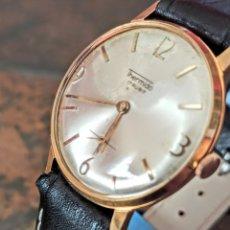 Relojes de pulsera: RELOJ SWSS THERMIDOR 17 JEWEST DE CARGA MANUAL FUNCIONA BIEN CHAPADO 10 MICRAS. Lote 213487976