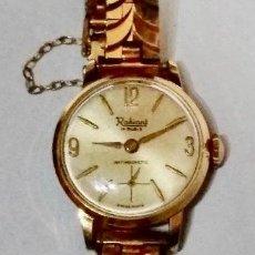 Relojes de pulsera: ANTIGUO RADIAN , 22 M/M Ø . MAQUINA SWISS MADE A CUERDA , TODO CHAPADO EN ORO.. Lote 135719823