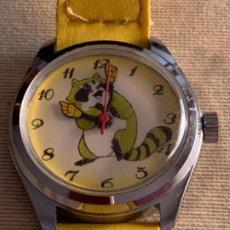 Relojes de pulsera: RELOJ PULSERA INFANTIL CARGA MANUAL MAPACHE. Lote 213631270