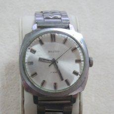 Relojes de pulsera: ANTIGUO RELOJ WOSTOK DE CARGA MANUAL CON MAQUINARIA DE 17 JOYAS, AÑOS 50, GRANDE 4 CMS, FUNCIONA. Lote 213777588