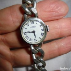 Relojes de pulsera: RELOJ DE SEÑORA MARCA SAVOY DE PLATA 835 NO FUNCIONA BIEN. Lote 214942251
