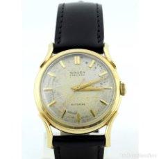 Relojes de pulsera: GRUEN PRECISION AUTOMATIC. RELOJ DE PULSERA PARA CABALLERO. ORO 14K. CA. 1950. Lote 215464285