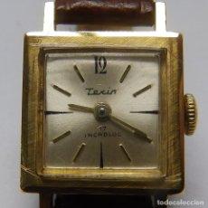 Relojes de pulsera: TEXIN INCABLOC. RELOJ DE PULSERA PARA DAMA. ORO 18K. CA. 1960. Lote 215649113