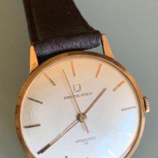 Relojes de pulsera: RELOJ UNIVERSAL GENEVE VANGUARD 56 ORO 18 QUILATES AÑOS 60. Lote 215902063