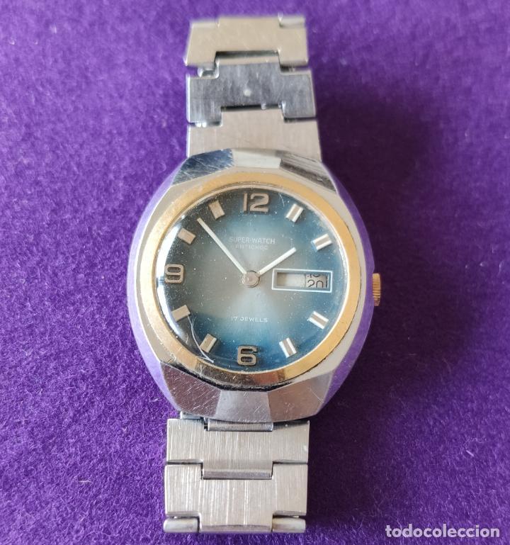 Relojes de pulsera: ANTIGUO RELOJ DE PULSERA SUPER WATCH. SWISS. CARGA MANUAL-CUERDA.EN FUNCIONAMIENTO.AÑOS 60.CABALLERO - Foto 2 - 216575907