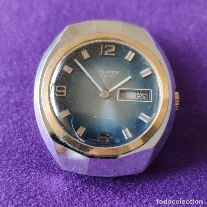 Relojes de pulsera: ANTIGUO RELOJ DE PULSERA SUPER WATCH. SWISS. CARGA MANUAL-CUERDA.EN FUNCIONAMIENTO.AÑOS 60.CABALLERO - Foto 3 - 216575907