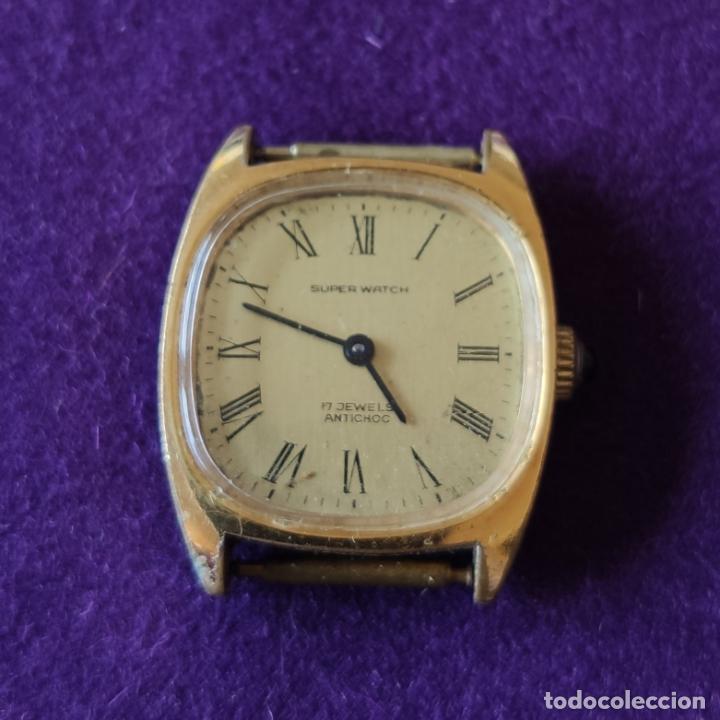 Relojes de pulsera: ANTIGUO RELOJ DE PULSERA SUPER WATCH. SWISS. CARGA MANUAL-CUERDA.EN FUNCIONAMIENTO.AÑOS 60.SEÑORA. - Foto 2 - 216575995
