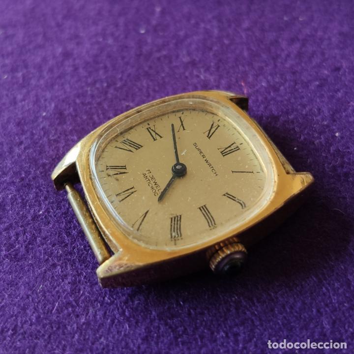 ANTIGUO RELOJ DE PULSERA SUPER WATCH. SWISS. CARGA MANUAL-CUERDA.EN FUNCIONAMIENTO.AÑOS 60.SEÑORA. (Relojes - Pulsera Carga Manual)