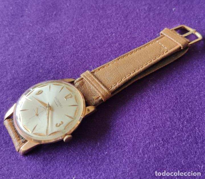 Relojes de pulsera: ANTIGUO RELOJ DE PULSERA ROSBU. SWISS. CARGA MANUAL-CUERDA.EN FUNCIONAMIENTO.AÑOS 60.CABALLERO. - Foto 3 - 216576378