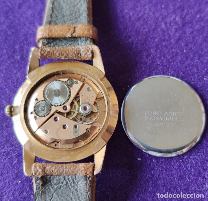 Relojes de pulsera: ANTIGUO RELOJ DE PULSERA ROSBU. SWISS. CARGA MANUAL-CUERDA.EN FUNCIONAMIENTO.AÑOS 60.CABALLERO. - Foto 4 - 216576378