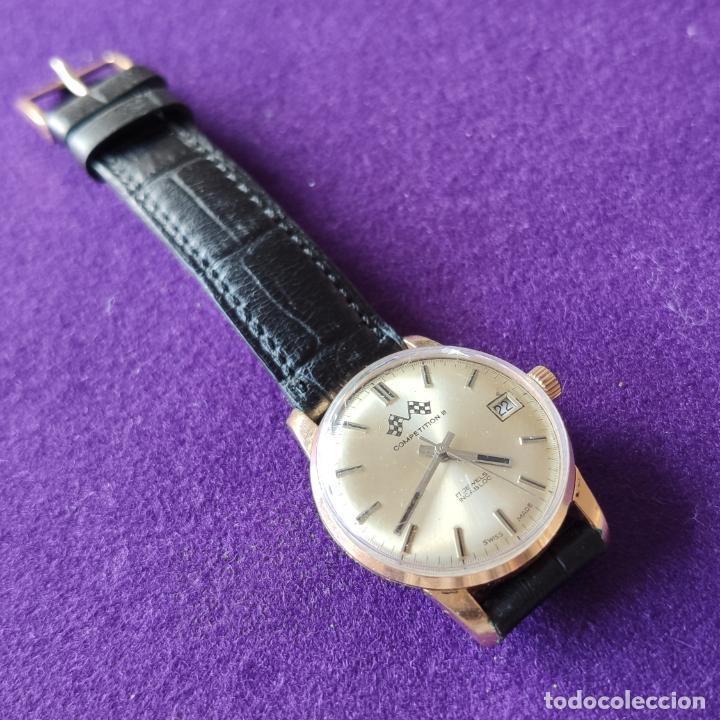 Relojes de pulsera: ANTIGUO RELOJ DE PULSERA COMPETITION. SWISS. CARGA MANUAL-CUERDA.EN FUNCIONAMIENTO.AÑOS 60.CABALLERO - Foto 2 - 216576511
