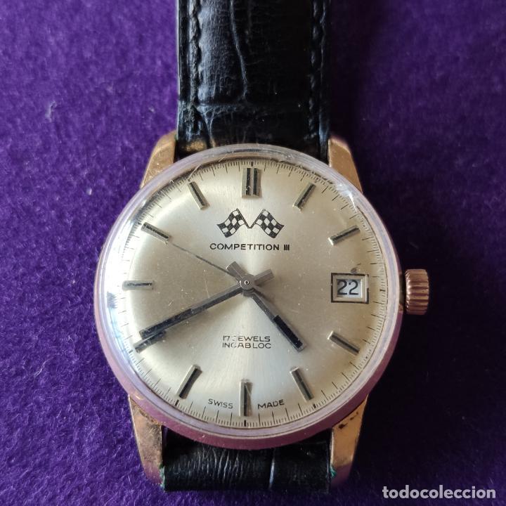 ANTIGUO RELOJ DE PULSERA COMPETITION. SWISS. CARGA MANUAL-CUERDA.EN FUNCIONAMIENTO.AÑOS 60.CABALLERO (Relojes - Pulsera Carga Manual)