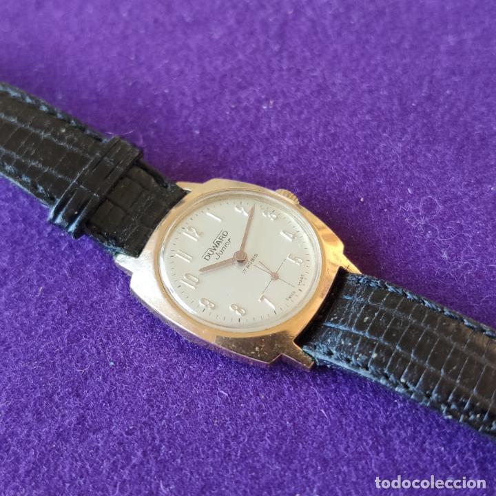 Relojes de pulsera: ANTIGUO RELOJ DE PULSERA DUWARD JUNIOR. SWISS. CARGA MANUAL-CUERDA.EN FUNCIONAMIENTO.AÑOS 60.CADETE - Foto 3 - 216576826