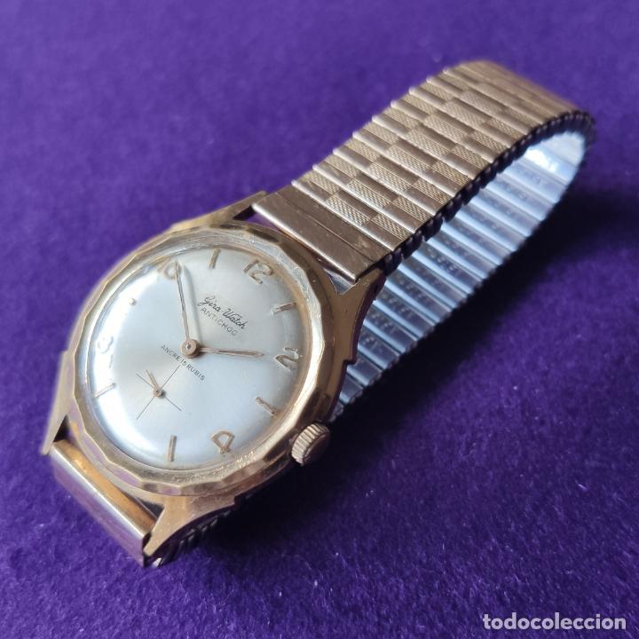 Relojes de pulsera: ANTIGUO RELOJ DE PULSERA GIRA WATCH. 15 RUBIS. SWISS. CARGA MANUAL-CUERDA. AÑOS 60. CABALLERO - Foto 2 - 216580355