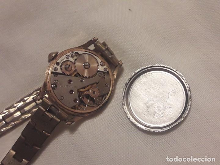 Relojes de pulsera: Antiguo reloj manual de señora Radiant 15 rubis años 50/60 baño oro plaque G-10 micas antimagnetic - Foto 5 - 216591770