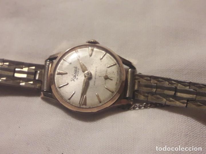 Relojes de pulsera: Antiguo reloj manual de señora Radiant 15 rubis años 50/60 baño oro plaque G-10 micas antimagnetic - Foto 6 - 216591770