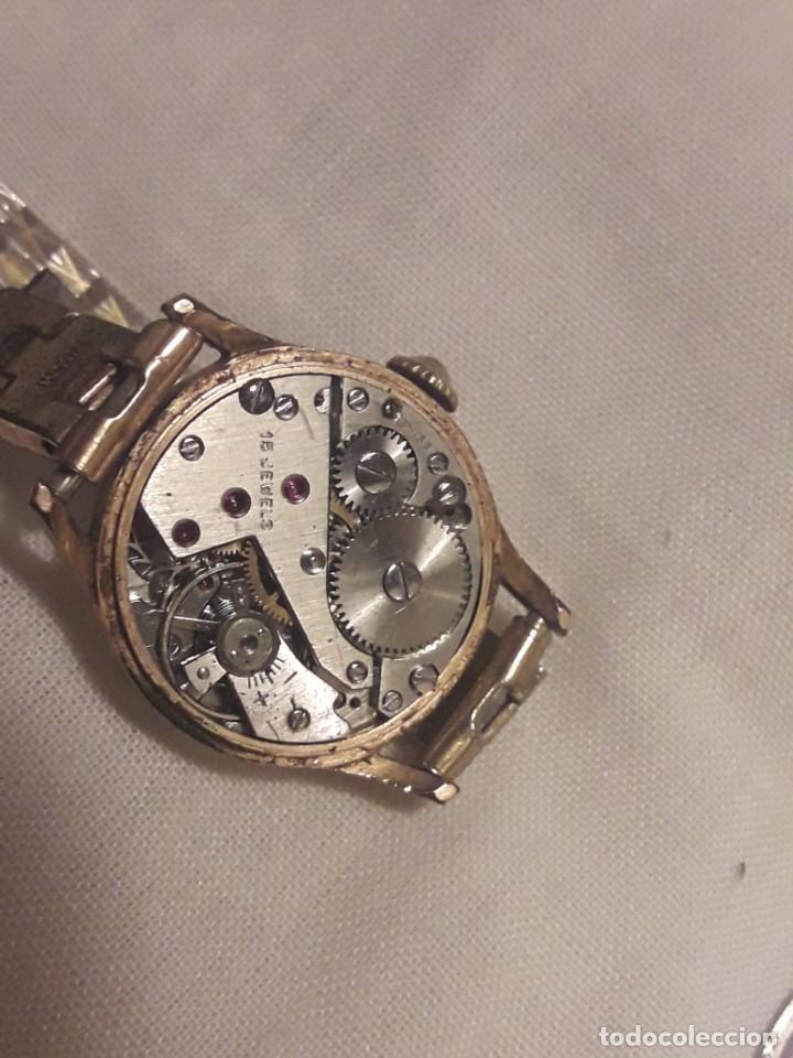 Relojes de pulsera: Antiguo reloj manual de señora Radiant 15 rubis años 50/60 baño oro plaque G-10 micas antimagnetic - Foto 8 - 216591770