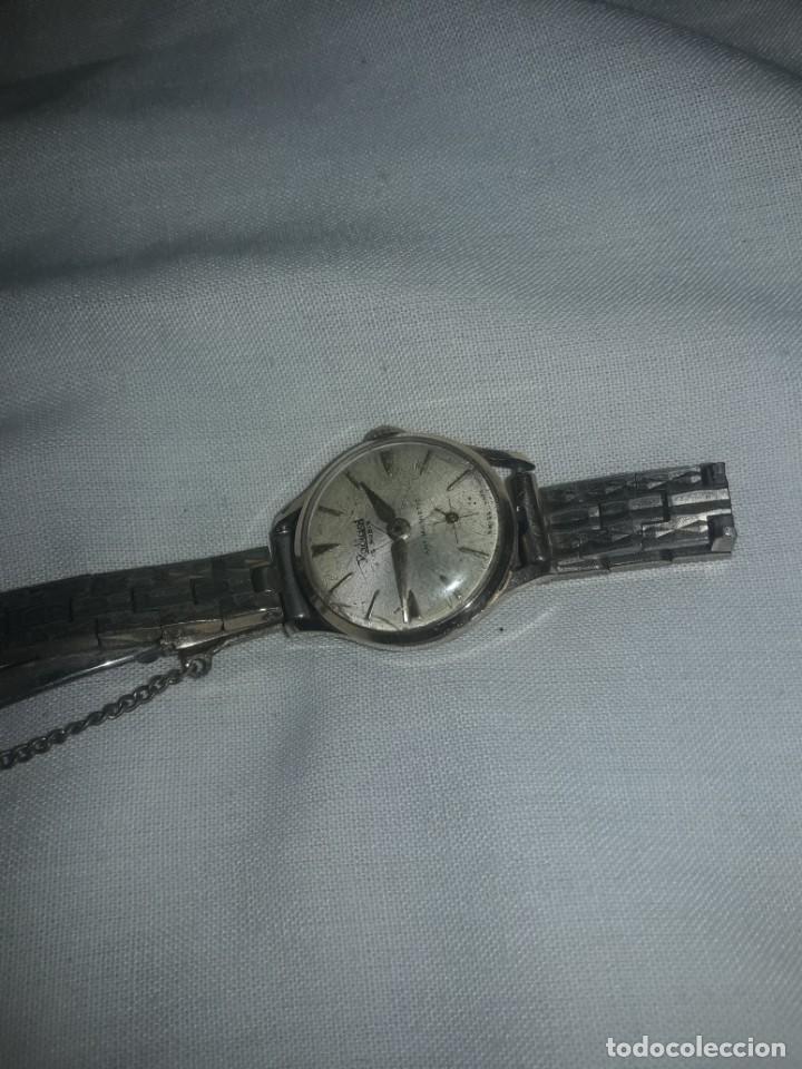 Relojes de pulsera: Antiguo reloj manual de señora Radiant 15 rubis años 50/60 baño oro plaque G-10 micas antimagnetic - Foto 10 - 216591770
