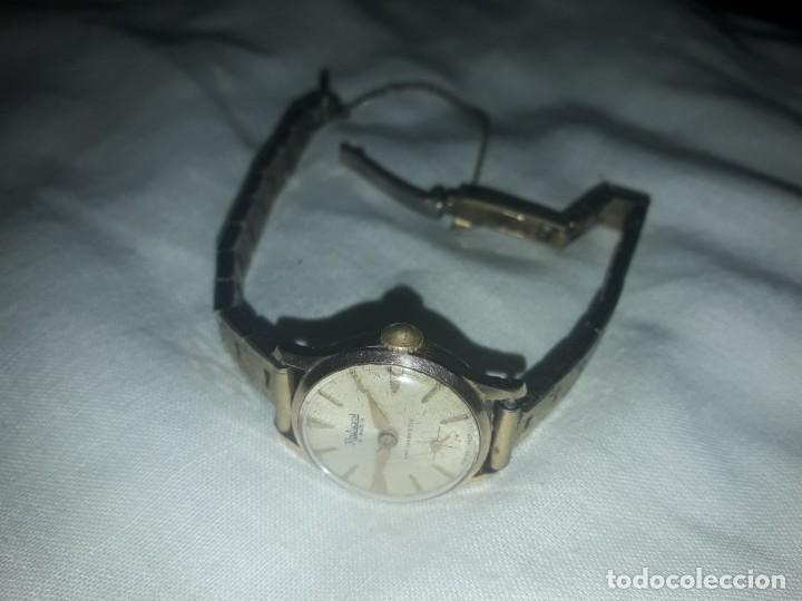 Relojes de pulsera: Antiguo reloj manual de señora Radiant 15 rubis años 50/60 baño oro plaque G-10 micas antimagnetic - Foto 11 - 216591770